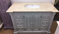Bespoke Single Bowl Vanity Unit Six Drawers and Marble Top